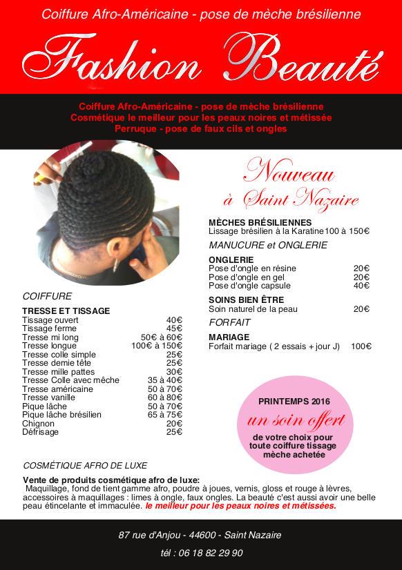 Salon mixte coiffure afro fashion beaut extensions for Salon de coiffure niwel tarifs